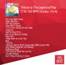 Tribute to The Legend of Pop (136-160 BPM, October 2014)