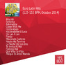 Euro Latin Hits (125-132 BPM, October 2014)